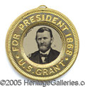 "Political:Ferrotypes / Photo Badges (pre-1896), GRANT/COLFAX FERRO. Very Choice and ""minty"" Grant/Colfaxferro.&..."