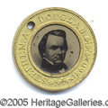 Political:Ferrotypes / Photo Badges (pre-1896), 1860 DOUGLAS/JOHNSON FERRO. 1860 Douglas/Johnson ferro. Choice c...