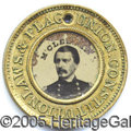 Political:Ferrotypes / Photo Badges (pre-1896), 1864 MCCLELLAN/PENDLETON FERRO. Scarce, slightly smaller-size 22...