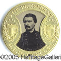 Political:Ferrotypes / Photo Badges (pre-1896), 1864 MCCLELLAN/PENDLETON MATE TO THE LINCOLN/JOHNSON FERROTYPE. ...