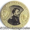 Political:Ferrotypes / Photo Badges (pre-1896), VARIANT OF THE MATCHING 1864 FREMONT COCHRANE. A varient of the ...