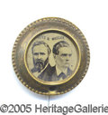 Political:Ferrotypes / Photo Badges (pre-1896), 1876 HAYES-WHEELER JUGATE FERRO. Scarce 1876 Hayes-Wheeler jugat...