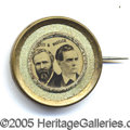 "Political:Ferrotypes / Photo Badges (pre-1896), 1876 HAYES-WHEELER JUGATE FERRO. Choice and ""minty"" 1876 ..."