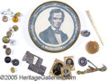 """Political:3D & Other Display (pre-1896), IMPORTANT, POSSIBLY UNIQUE ABRAHAM LINCOLN """"NOTIONS"""" BOX. Pictur..."""