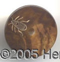 Political:Miscellaneous Political, GOLD BUG CLOTHING BUTTON. Unusual gold bug clothing button, with...