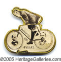 Political:Pinback Buttons (1896-present), MCKINLEY AND HOBART BIKE PIN. The McKinley-Hobart mate to the ac...