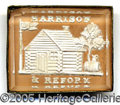 "Political:Ferrotypes / Photo Badges (pre-1896), WHH SULFIDE. Beautiful ""Harrison and Reform"" WHH Sulfide.  ..."