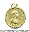 Political:Ferrotypes / Photo Badges (pre-1896), Z. TAYLOR 1848-19 BRASS SHELL MEDALET. Superb, choice example of...