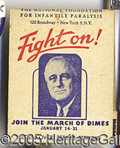 Political:Small Paper (1896-present), FDR MATCH COVER. Red, white and blue FDR match cover, against in...
