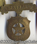 Political:Ribbons & Badges, 1892 Brass Cleveland Democratic Convention Badge. 1892 brass Cle...