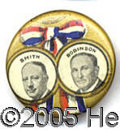"""Political:Pinback Buttons (1896-present), SMITH-ROBINSON JUGATE. Classic 7/8"""" Smith-Robinson jugate. ..."""