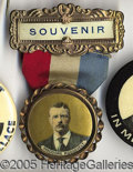 Political:Ribbons & Badges, Colorful Teddy Roosevelt Badge. Colorful Teddy Roosevelt badge w...