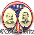 Political:Pinback Buttons (1896-present), Choice Parker Davis Jugate. Choice example of this scarce Parker...