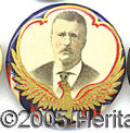 Political:Pinback Buttons (1896-present), COLORFUL TR BUTTON. Colorful TR button, in beautiful shape.&nbsp...