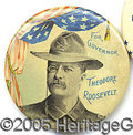 Political:Pinback Buttons (1896-present), LARGE TR FOR NY GOVERNOR PIN. Always-popular large TR for NY gov...