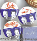 Political:Pinback Buttons (1896-present), PARTIAL SET OF (29) HUMPHREY-MUSKIE STATE JUGATES. (Samples show...