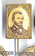 "Political:Ferrotypes / Photo Badges (pre-1896), CLASSIC GRANT CARDBOARD. Minor light ""aging"" on photo.  Pos..."