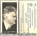 Political:Small Paper (1896-present), LAFOLLETTE ELECTION CARD. Most unusual real-photo 1924 LaFollett...