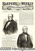 Political:Small Paper (pre-1896), 1860 HARPER'S COVER, WITH NICE BELL AND EVERETT JUGATE. An affor...