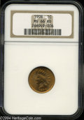Indian Cents: , 1908 MS66 Red NGC. ...
