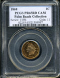 Proof Indian Cents: , 1868 PR 65 Cameo PCGS. ...