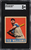Baseball Cards:Singles (1940-1949), 1948-49 Leaf Ted Williams #76 SGC VG 3. Our offere...