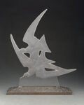Glass, R. Lalique Clear and Frosted Glass Hirondelles Surtout, circa 1922. Marks: R. L...