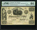 Obsoletes By State:Louisiana, New Orleans, LA- City of New Orleans - Municipality No. One $50 184_ Remainder PMG Choice Uncirculated 64.. ...