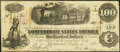Confederate Notes:1862 Issues, T40 $100 1862 Very Fine.. ...