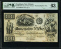 Obsoletes By State:Louisiana, New Orleans, LA- City of New Orleans - Municipality No. One $100 Oct. 30, 1837 Remainder PMG Choice Uncirculated ...