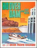 """Movie Posters:Miscellaneous, Hoover Dam and Lake Mead (Union Pacific Railroad, 1955). Very Fine on Linen. Travel Poster (12"""" X 15.5""""). Miscellaneous.. ..."""