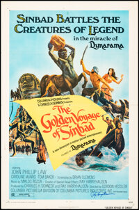 """The Golden Voyage of Sinbad (Columbia, 1973). Folded, Fine/Very Fine. Autographed One Sheet (27"""" X 41"""") Style..."""