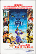 """Movie Posters:Fantasy, Sinbad and the Eye of the Tiger (Columbia, 1977). Folded, Fine/Very Fine. Autographed One Sheet (27"""" X 41"""") Birney Le..."""