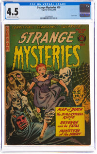 Strange Mysteries #10 (Superior Comics, 1953) CGC VG+ 4.5 Cream to off-white pages