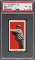 """Baseball Cards:Singles (Pre-1930), 1910 E98 """"Set of 30"""" Hal Chase (Red) PSA EX-MT 6. ..."""