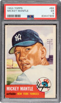 Baseball Cards:Singles (1950-1959), 1953 Topps Mickey Mantle #82 PSA EX 5. In 1953, he...