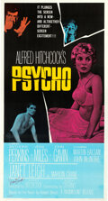 Movie Posters:Hitchcock, Psycho (Paramount, 1960). Very Fine- on Linen. Aut...