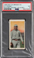 Baseball Cards:Singles (Pre-1930), 1909-10 E97 C.A. Briggs Cy Young (Cleveland) PSA VG 3 - On...