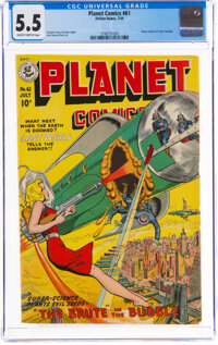 Planet Comics #61 (Fiction House, 1949) CGC FN- 5.5 Slightly brittle pages