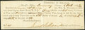 Little Rock, AR (Territory)- Territory of Arkansas $2.60 Tax Certificate Oct. 1, 1832 Very Fine-Extremely Fine