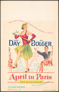 """Movie Posters:Musical, April in Paris & Other Lot (Warner Bros., 1952). Fine/Very Fine. Window Card (14"""" X 22"""") & Trimmed Window Card (14"""" X 15.5"""")... (Total: 2 Items)"""