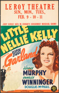 """Movie Posters:Musical, Little Nellie Kelly (MGM, 1940). Folded, Fine/Very Fine. Window Card (14"""" X 22""""). Musical.. ..."""