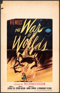 """Movie Posters:Science Fiction, The War of the Worlds (Paramount, 1953). Folded, Fine. Window Card (14"""" X 22""""). Science Fiction.. ..."""