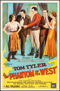 """Movie Posters:Serial, The Phantom of the West (Mascot, 1931). Rolled, Fine/Very Fine. One Sheet (27"""" X 41"""") Chapter 5-- """"The League of the Lawless..."""
