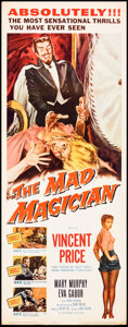 """Movie Posters:Horror, The Mad Magician (Columbia, 1954). Rolled, Fine/Very Fine. Insert (14"""" X 36""""). Horror.. ..."""