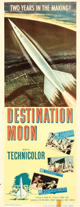 Movie/TV Memorabilia:Posters, Destination Moon and Other Lot (Pathé, 1950). Folded, Fin...