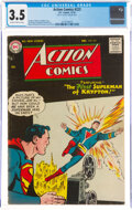 Silver Age (1956-1969):Superhero, Action Comics #223 (DC, 1956) CGC VG- 3.5 Slightly brittle pages....