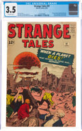 Silver Age (1956-1969):Horror, Strange Tales #97 (Marvel, 1962) CGC VG- 3.5 Off-white pag...