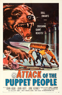 Attack of the Puppet People & Other Lot (American International, 1958). Folded, Fine/Very Fine. One Sheet (4) (27&qu...