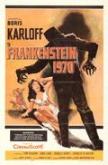Movie Posters:Horror, Frankenstein 1970 & Other Lot (Allied Artists, 1958). Fold...